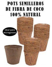 Pots Semilleros fibra de coco